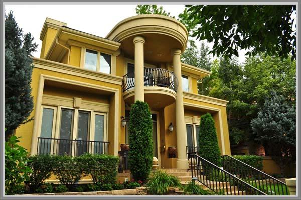 Desain Teras Untuk Rumah Mewah Bergaya Klasik Edupaint